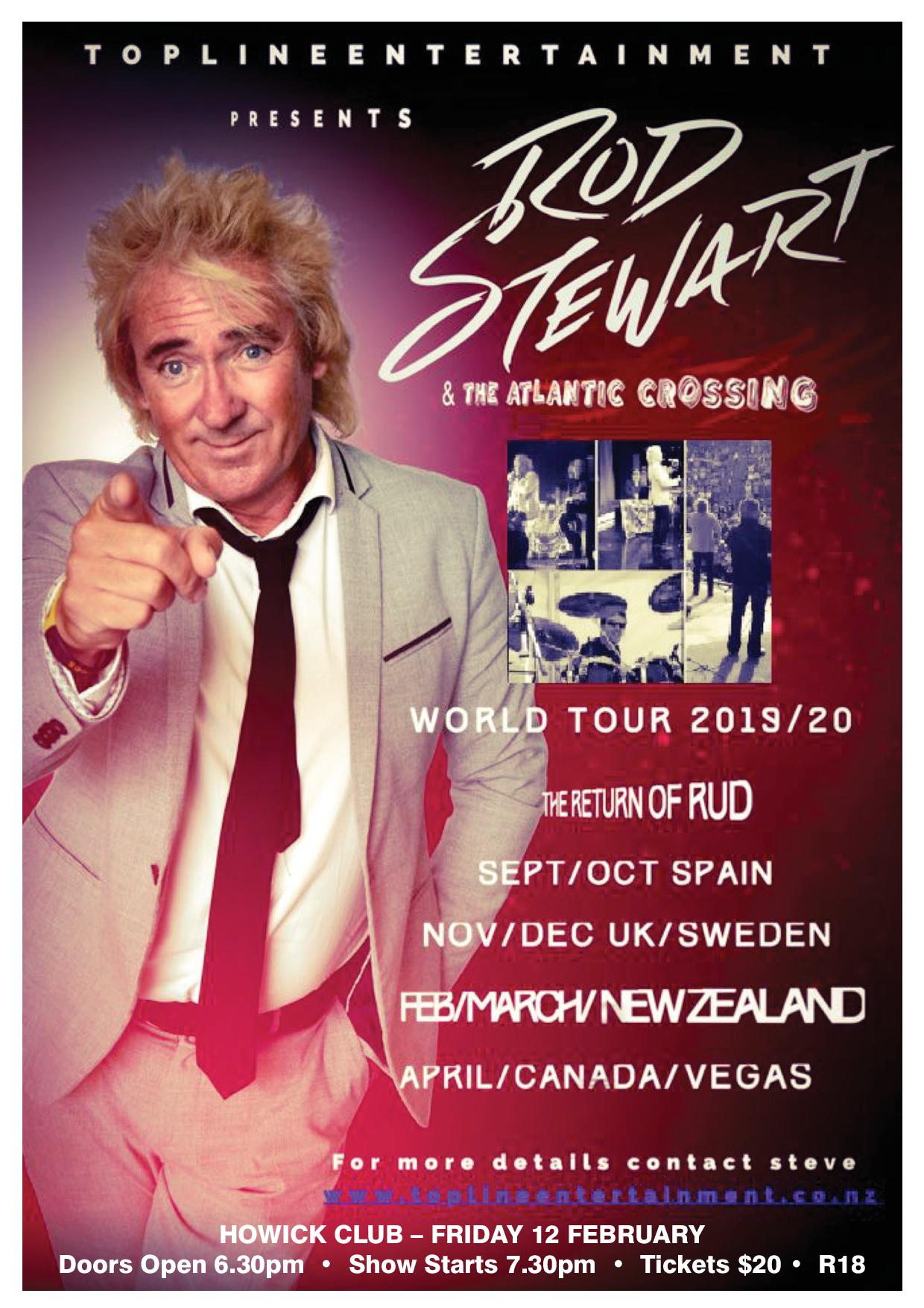 SHOW CANCELLED -   RUD STEWART & The Atlantic Crossing